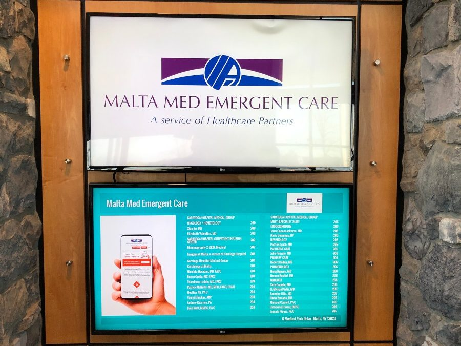 Malta Medical Emergent Care Installs Mood Media MVision