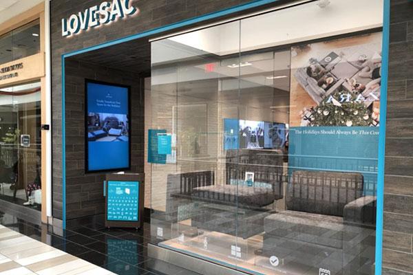 Digital Signage; Albany, NY.  LOVESAC.