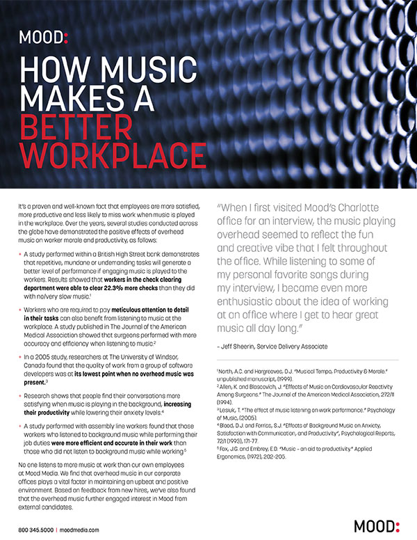 How Music Makes A Better Workplace