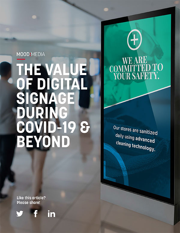 The Value of Digital Signage During Covid-19 Beyond